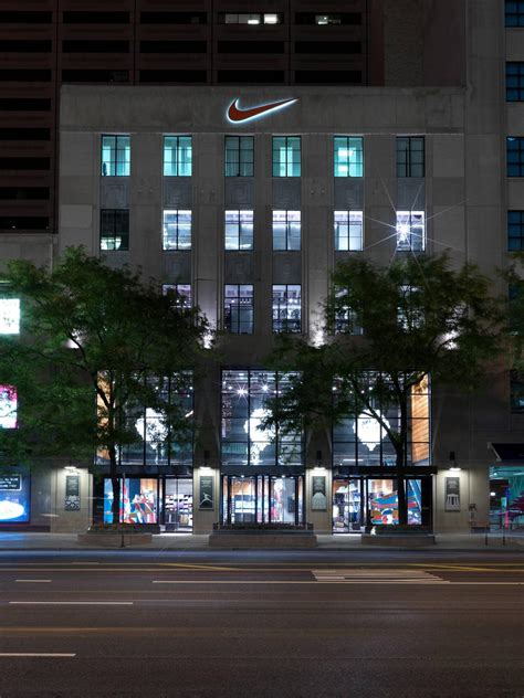 nike reopens  flagship brand presence  chicago