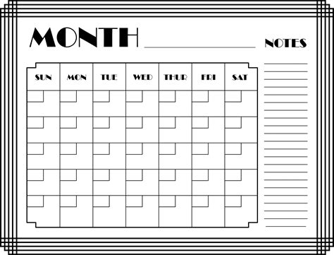 Calendar This Month Clipart Month Calendar