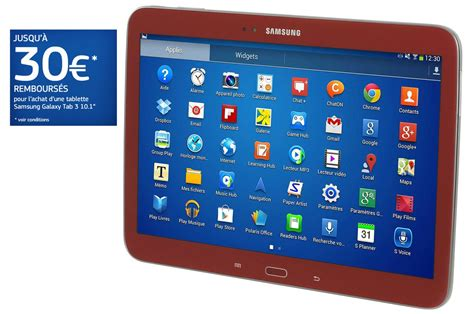 format video samsung galaxy tab 3 tablette tactile samsung galaxy tab 3 rouge 10 1