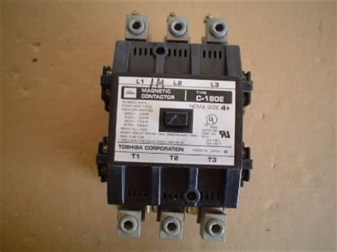 Magnetic Contactor C 180 S Toshiba toshiba c 180e size 4 magnetic contactor 600v max