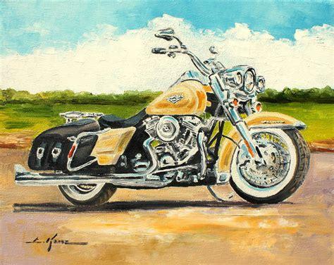 Harley Davidson Home Decor Harley Davidson Road King Painting By Luke Karcz
