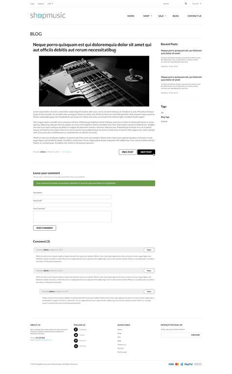 responsive shopify theme shopmusic by tvlgiao themeforest