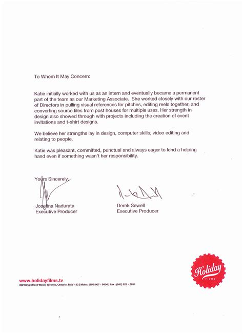 Recommendation Letter Email Title Reference Letter Katiebettychristensen