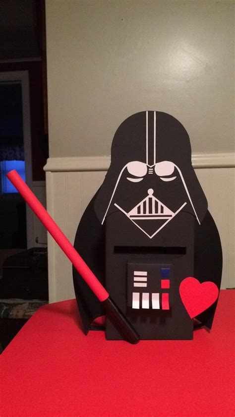 darth vader box diy wars valentines ideas wars darth box and