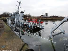 how to become a boat captain uk hms bronington lies half submerged in merseyside dock