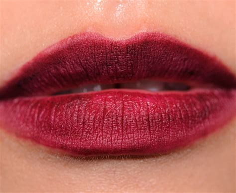 mac stroke  midnightviolet lip bag review  swatches