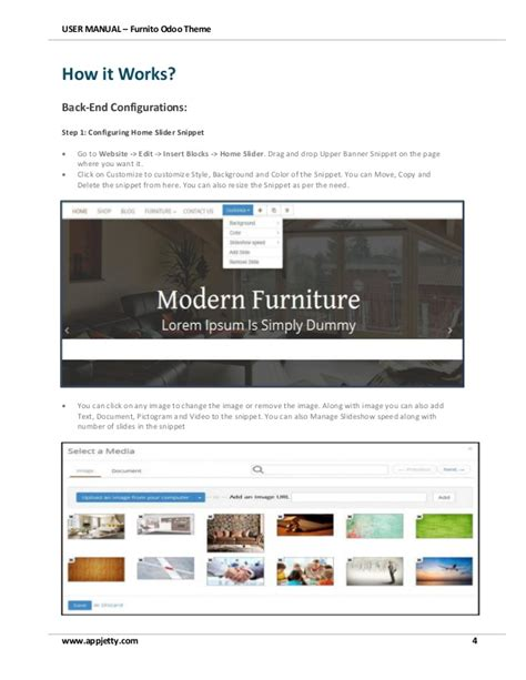 bootstrap themes odoo html5 bootstrap furniture ecommerce odoo theme user manual