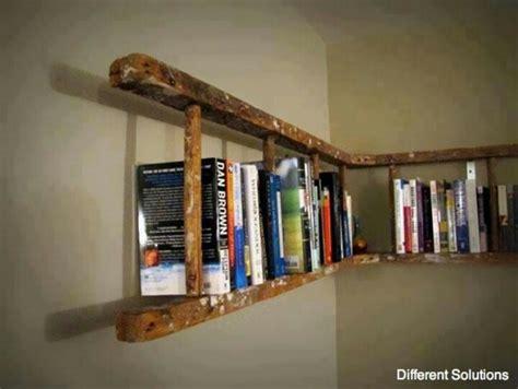 ladders used as bookshelf annies