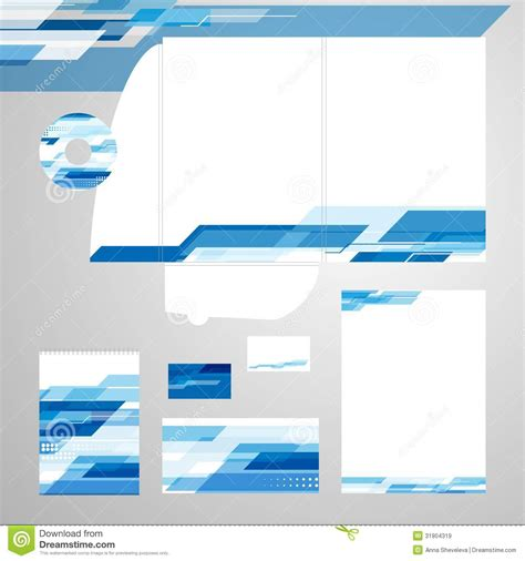 corporate identity template vector stock vector