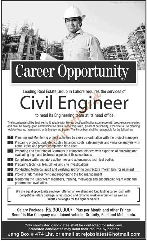 design engineer jobs for civil civil engineers jobs in lahore paperpk