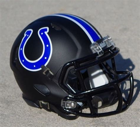 nfl helmet design history indianapolis colts speed matte black concept football mini