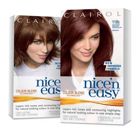 nice and easy hair color chart a nice n easy guide to matching your hair colour to your
