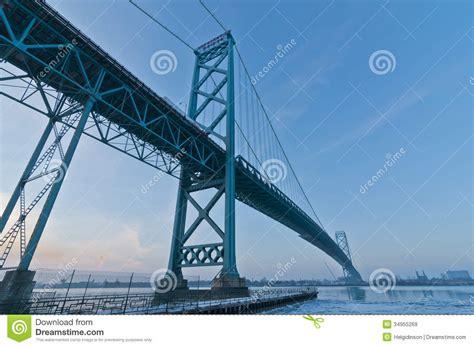 cold steel canada dealers ambassador bridge ontario stock photography