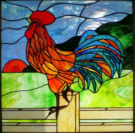 stained glass rooster l 17 best images about stained glass roosters other