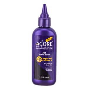 adore semi permanent hair color adore plus semi permanent color 394 velvet black adore