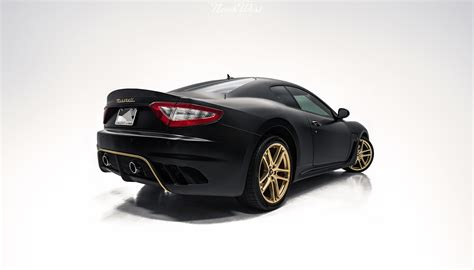 maserati wrapped maserati gran turismo xpel stealth satin gold car wrap