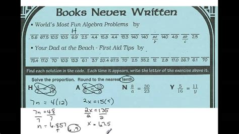 Books Never Written Math Worksheet Answers by Books Never Written Proportion Review