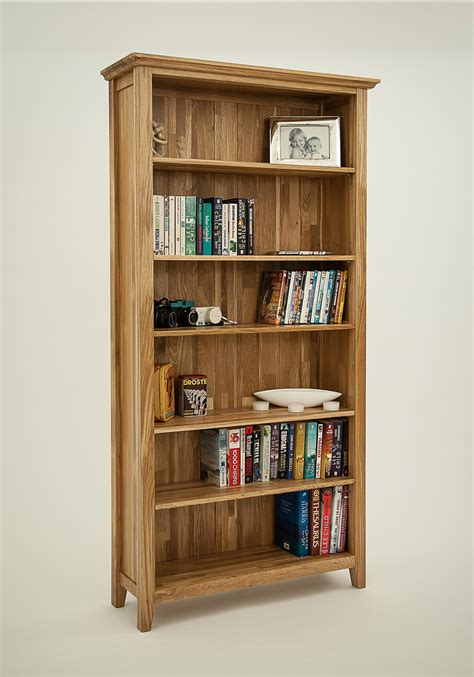 hereford rustic oak 6ft x 3ft bookcase oak furniture