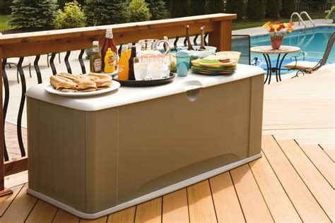 rubbermaid deck box with seat rubbermaid deck box with seat 16 cubic