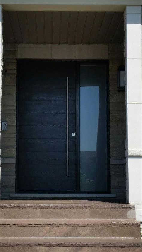 modern exterior front door modern rustic woodgrain front