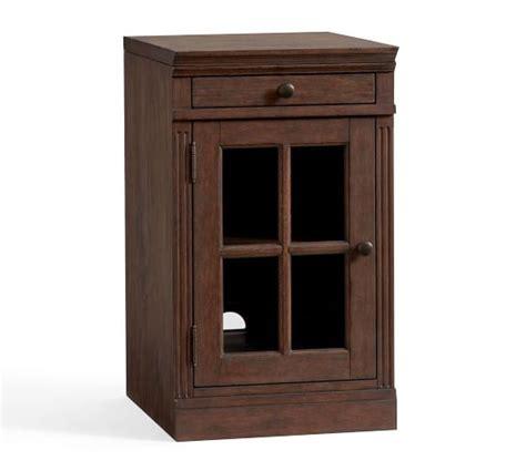 Single Glass Door Cabinet Livingston Single Glass Door Cabinet Brown Pottery Barn