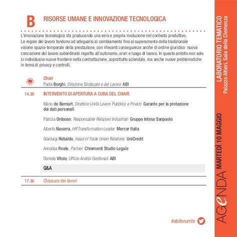 unicredit ufficio personale forum hr 2016 banche e risorse umane agenda