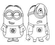 minions coloring pages of phil phil and stuart the minion coloring pages printable