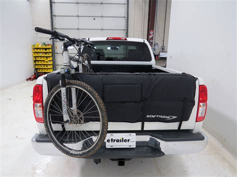bike rack for truck tailgate softride tailgate pad bicycle transporter for mid size