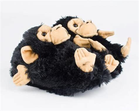 monkey house shoes black monkey slippers black monkey animal slippers
