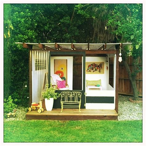 pdf diy backyard playhouse diy white simple