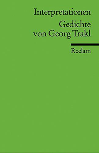 libro expressionismus libro gedichte von georg trakl interpretationen di georg trakl