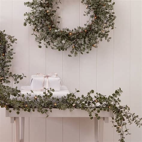 light up eucalyptus christmas garland by the christmas