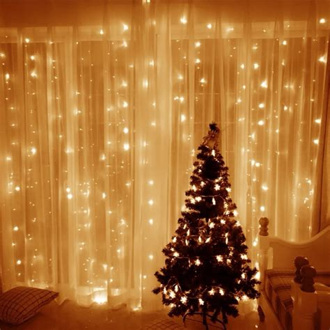 curtain christmas lights indoors window curtain icicle lights 306 led 9 8ft led light