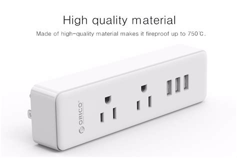 Orico Wall Charger With Ac Outlet And Usb Charger Port Hpc 6a5u Hpc 4a5u Hpc 8a5u orico multifunctional wall mount power 2 ac outlets 3 usb ports charger with us