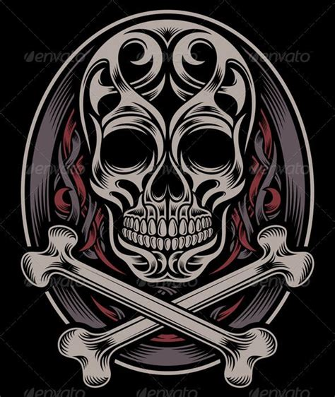 skull and crossbones tattoo hardcast vectors koi carp vector illustration of an owl