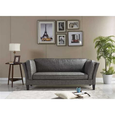 Dorel Lakewood Tufted Gray Sofa Fa7476 Sf The Home Depot Lakewood Tufted Sofa
