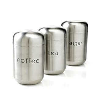 stainless steel kitchen canister sets nurdew livingquarters set of 3 stainless steel canisters