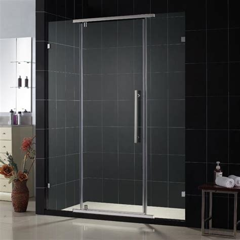 glass pivot bathtub doors dreamline vitreo quot 46 1 8 x 76 quot frameless pivot shower door