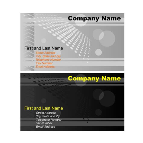 Illustrator Business Card Template Graphics Download At Vectorportal Business Card Template Illustrator Free