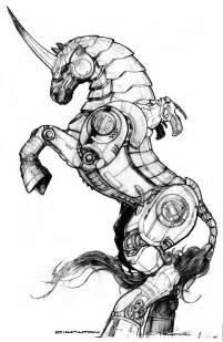 black market robot steed unicorn chuckwalton deviantart