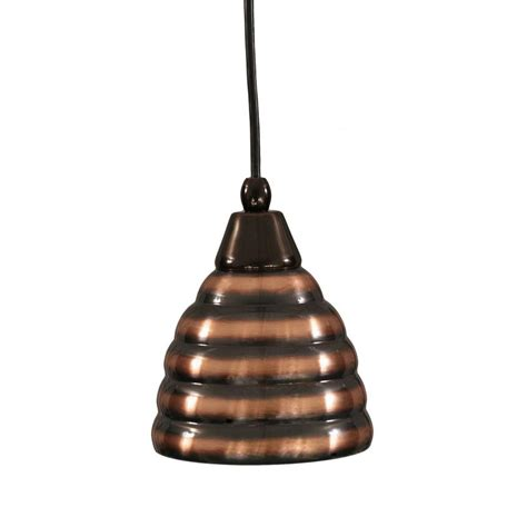 Pendant Lights Home Depot Filament Design Concord 1 Light Black Copper Incandescent Ceiling Pendant Cli Tl5001191 The