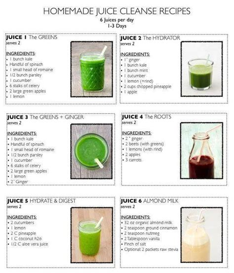 Tasty Detox Juice Recipes by 6 Tasty Juice Cleanse Recipes Healthy