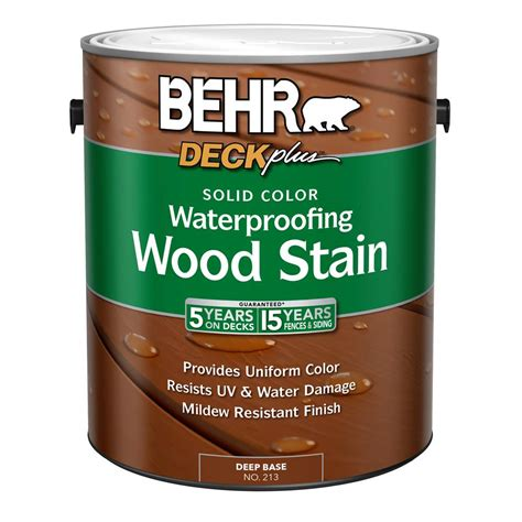 behr solid color waterproofing wood stain behr 1 gal deck plus tint base solid color