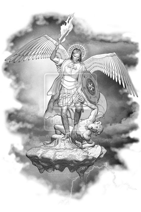 stmichael vs lucifer pictures to pin on pinterest tattooskid