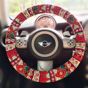 Steering Wheel Covers Boho Zigzag Aztec Chevron Cross Multicolor Steering By Carsoda