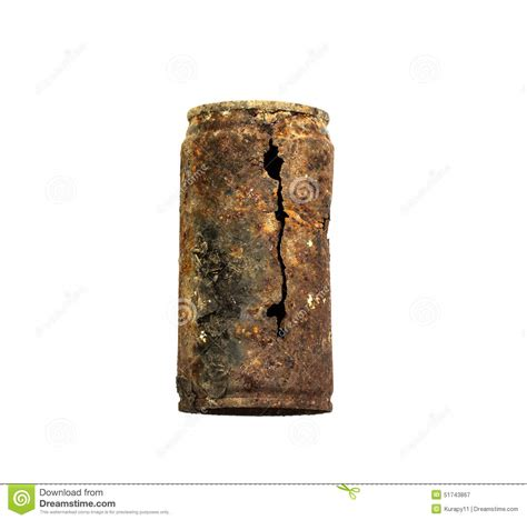 rusty car white background old rusty tin can on white background stock image