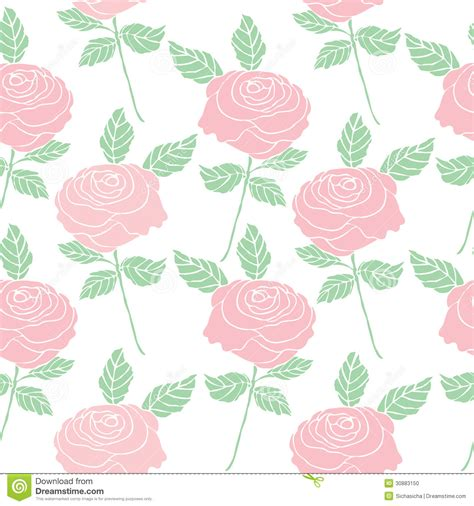 flower pattern stock illustrations seamless pattern background of vintage style roses flower