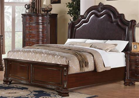Sensational Traditional Solid Carved Wood Queen Bed Carved Bedroom Furniture
