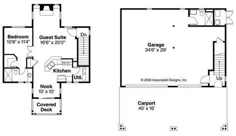 Bungalow Garage W Apartment 20 052 Associated Designs House Plans Detached Guest Suite