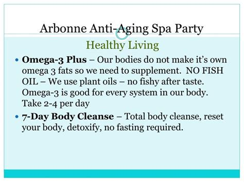 Arbonne Detox Spa Presentation by Ppt Arbonne Anti Aging Spa Powerpoint Presentation